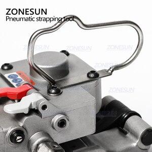 Image 2 - ZONESUN Портативный быстрое пневматическое портативное устройство для обвязки ПП ПЭТ поддонов ленточный натяжитель и упаковщик коробки картонная машина