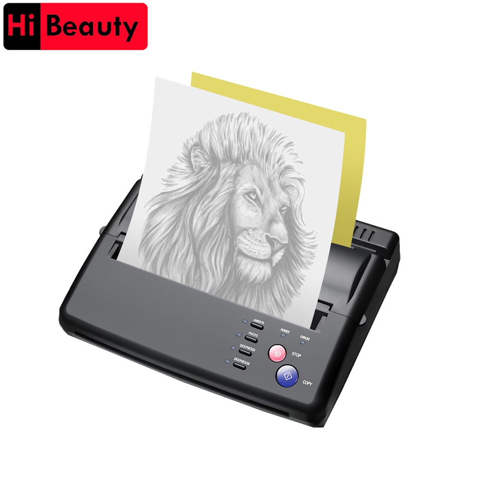 Tattoo Transfer Machine Device Copier Printer Drawing Thermal Stencil Maker Tools For Tattoo Photos Transfer Paper Copy Printing