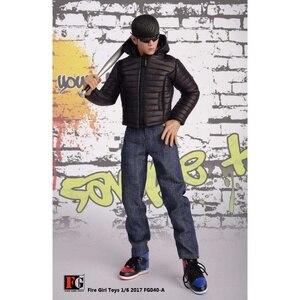 Image 2 - 1/6 skala Männlichen Kleidung Set FG040 Unten Jacken Mantel Kleidung Schuhe Anzug Schwarz/Gelb/Rot Fit 12 Zoll körper Action Figur
