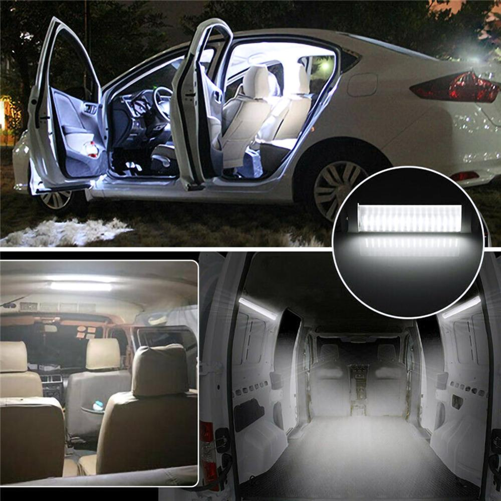 1Pc 12V Car Interior Led Light Bar 72 LED White Light Tube with Switch for Van Lorry Truck RV Camper Boat Indoor Ceiling Light  - buy with discount