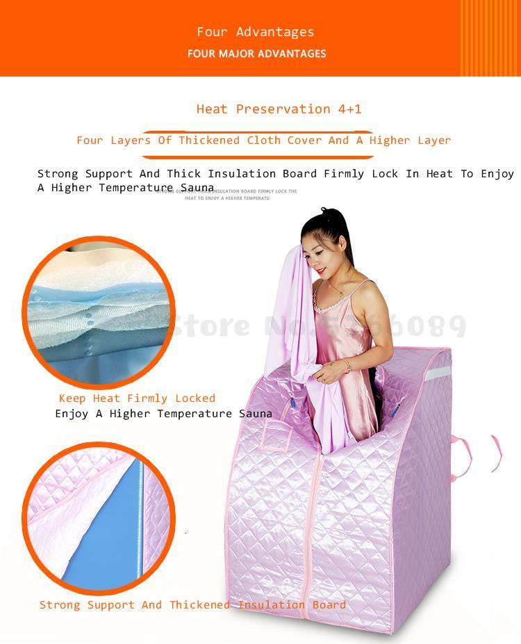 Sauna Detox Steaming Box With Sauna Steam  Portable Home Spa Weight Loss And Head Cover Removable With Stainless Steel Herbal 12