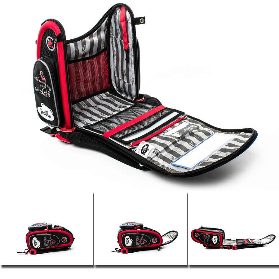 Delune Marke orthopädische schule taschen satchel für jungen 1-3 grade Autos EVA Gefaltet Kinder Grundschule Rucksack Mochila infantil