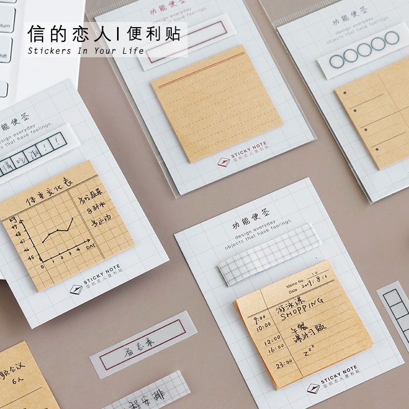 30 Sheets/pack Memo Pad Vintage Sticky Note Check List Planner Sticker Stationery Office Supplies