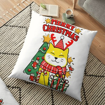 Cute Christmas Dog And Tree Cushion Cover Pillowcase 2020 Christmas Decorations For Home Xmas Noel Ornament Happy New Year 2021 image