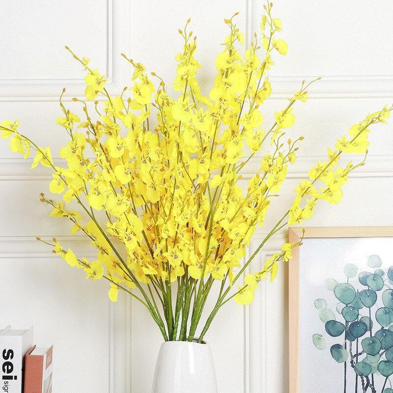 Букет Phalaenopsis для украшения свадебного стола, ваза ручной работы, 100 см, Орхидея, искусственные цветы шт.