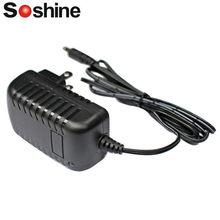 Paquet de batteries Soshine LED Li-ion NiMH NiCd, 2,4 V-12 V, chargeur Max 1A, prise EU US