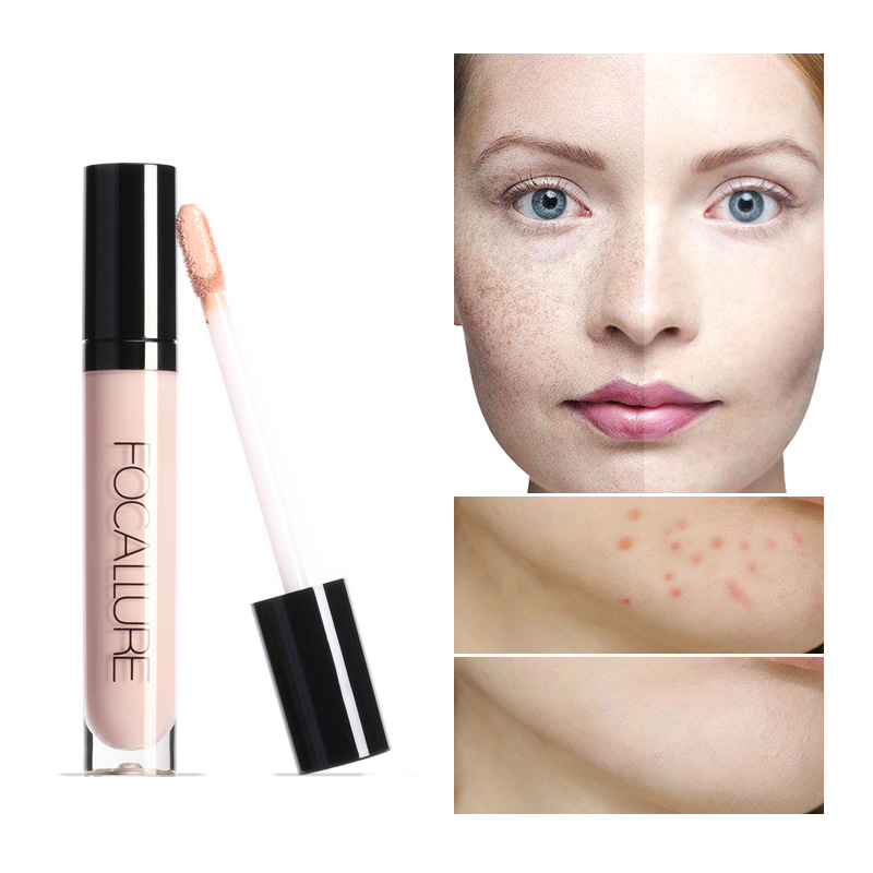 FOCALLURE Liquid Concealer Makeup Full Cover Make Up for Base Eye Dark Circles Natural Cosmetics image