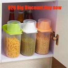 1PC Plastic Food Storage Lattices Sealed Crisper Grains Tank Kitchen Sorting Box Container Dropshipping X