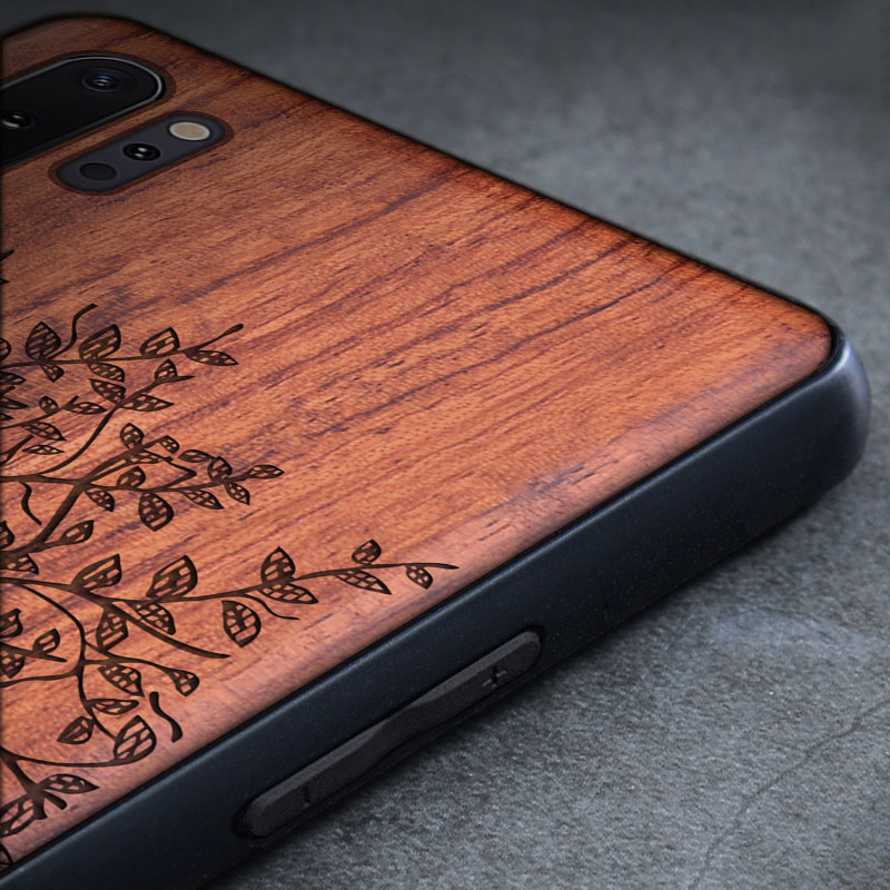 Kayu Kasus Untuk Samsung Galaxy S9 S10 Ditambah Catatan 9 8 10 - Aksesori dan suku cadang ponsel - Foto 3