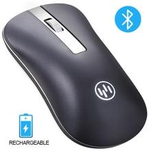 Беспроводная Bluetooth мышь, беспроводная перезаряжаемая мышь, компьютерная эргономичная мышь, бесшумная мини-мышь Mause, 2,4 ГГц, USB мышь для ноутбука