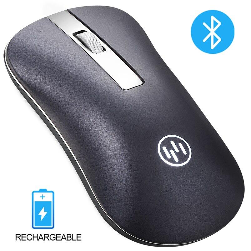 Ratón inalámbrico Bluetooth recargable ordenador ratón ergonómico ratón silencioso Mini PC Mause 2,4 GHz ratón USB para ordenador portátil