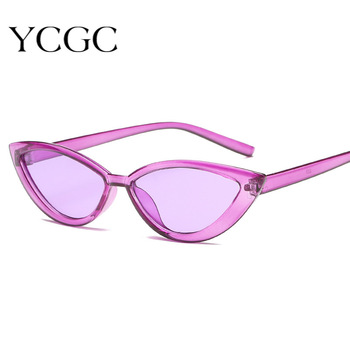 Women Cat Eye Sunglasses Small Size Brand Designer Fashion Retro Ladies Sun Glasses Female Black Purple Red Glasses UV400 image