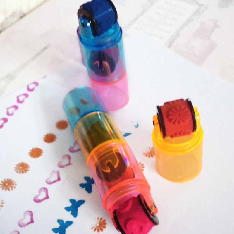 1Pcs 3 Knots Drawing Toys For Children Cycle Roller Stamp Without Ink Pad DIY Kids Handmade Painting Educational Toys Kids Gift