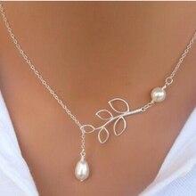 YLWHJJ – collier de marque en perles et feuilles pour femmes, Lariat, ras du cou, pendentifs