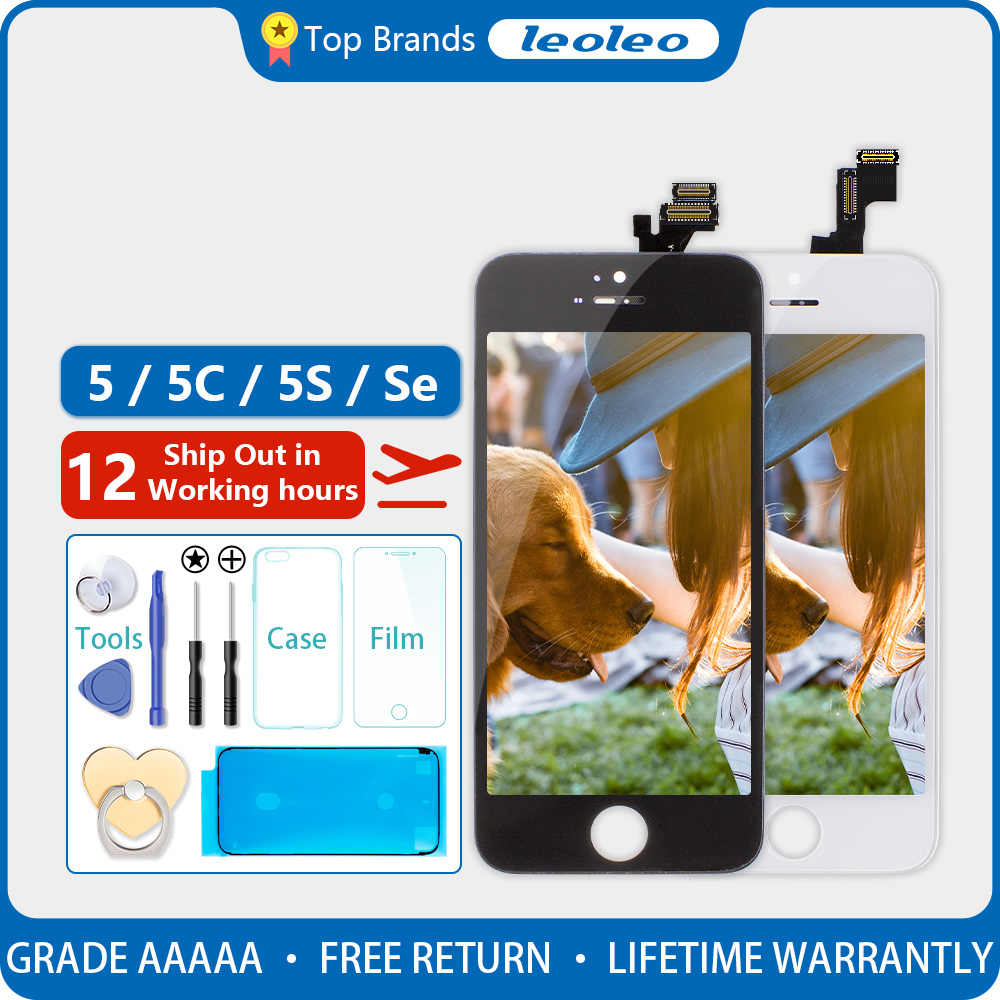 LCD สำหรับ Apple iPhone 5/5C/SE/5S จอแสดงผล LCD TOUCH Digitizer เปลี่ยนแอลซีดีสำหรับ iPhone 5/5C/SE/5S จอ LCD แบบสัมผัสหน้าจอเปลี่ยน