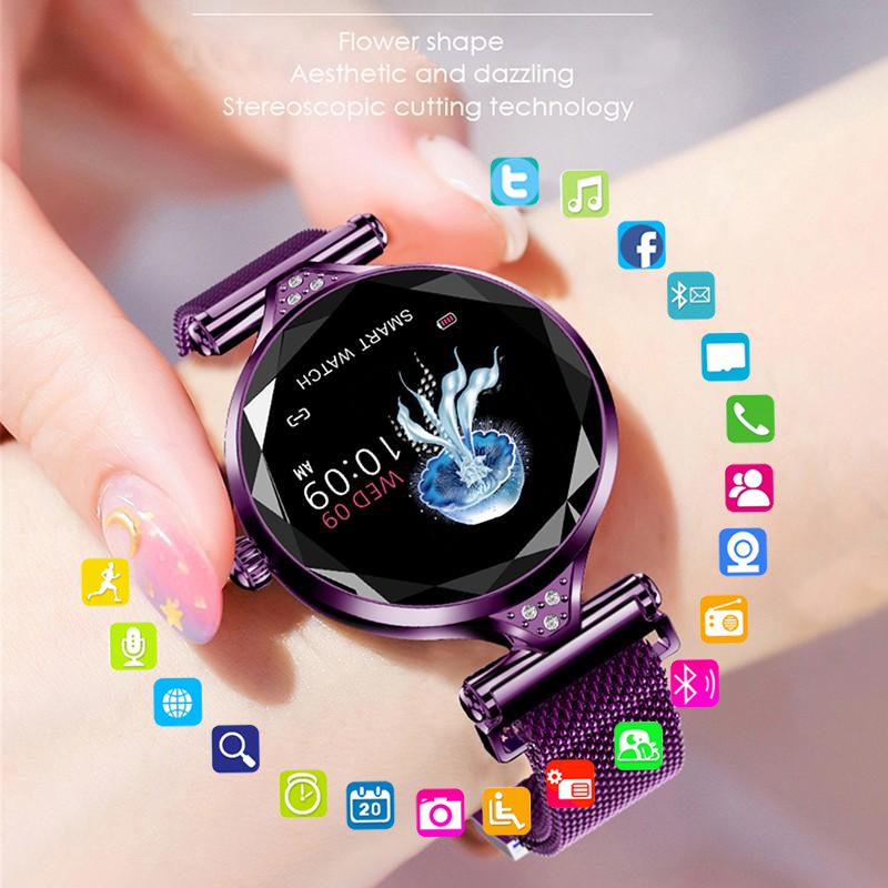 2021 Fashion Smart Watch Women IP68 waterproof Multi-sports modes Pedometer Heart Rate smartwatch Fitness Bracelet for Lady Gift 1