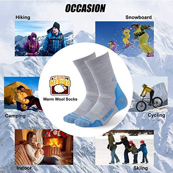 Quarter Thermo Merinowolle Anti Blister Sport Outdoor Viertelsocke ZEALWOOD Damen Ankle Wandern Trekking Socken