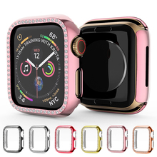 Laforuta Diamond PC Protector Case for Apple Watch Series 5 4 anti-fall Earthquake-proof Coverage case Iwatch 40mm 44mm
