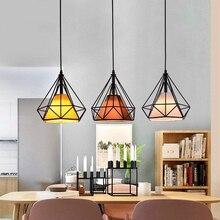 Decoración moderna, colgante de hierro negro claro, jaula colgante, lámpara Led Vintage E27, accesorios de iluminación para Loft Industrial, cocina, comedor