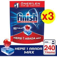 Terminar tudo em um 240 comprimido detergente para máquina de lavar louça (80x3)