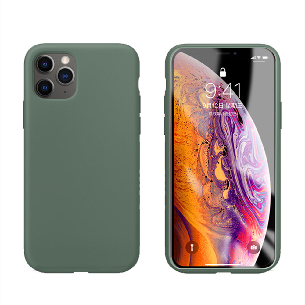 Original Official Liquid Silicone Case For IPhone 11 Pro X Xs Max IPhone XR 6 6S 7 8 Plus Soft Full Back Phone Cover With LOGO