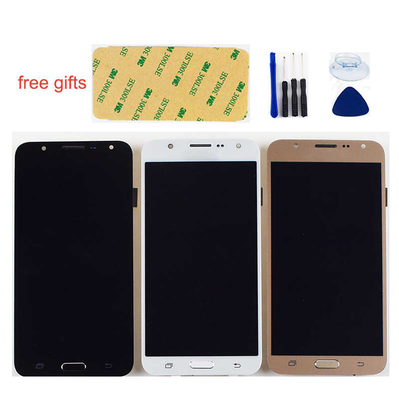 สำหรับ Samsung Galaxy J7 2015 หน้าจอ LCD j700 SM J700F J700M J700H J700FN DS จอแสดงผล LCD Touch Screen Digitizer Assembly กรอบ