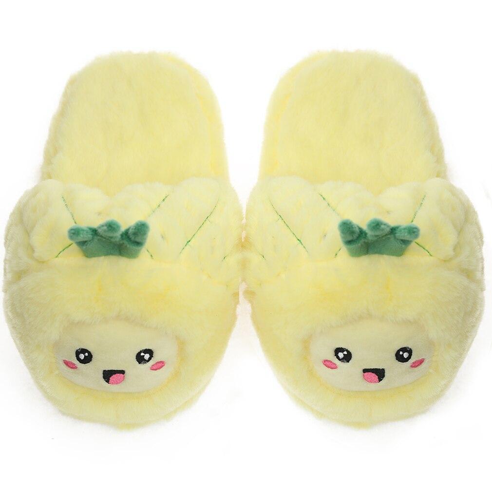 Hb59a19efe48349d6b46c5a83e2944e69Z Millffy chinelo feminino de pelúcia, calçado feminino fofo de abacaxi frutas chinelos de pelúcia para casa quarto chinelo de casa