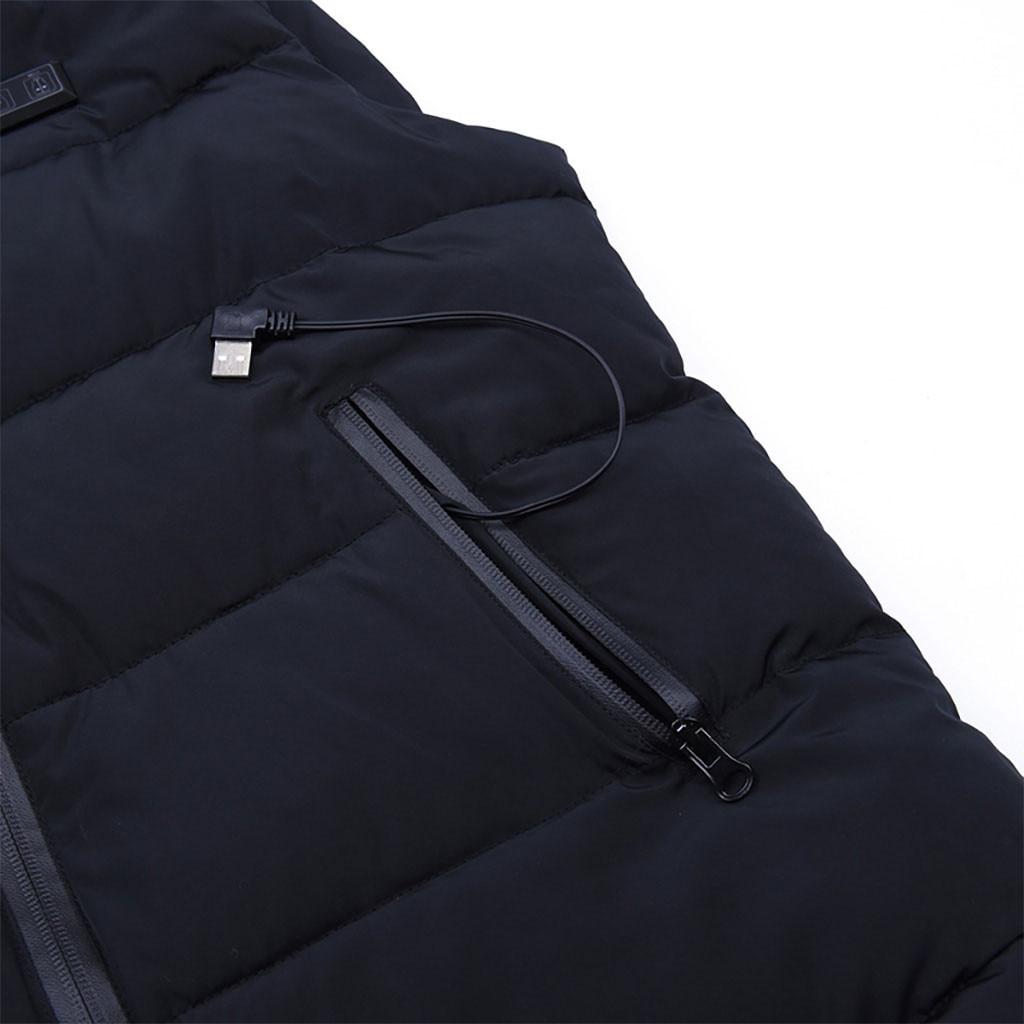 Новое поступление, зимнее пальто унисекс, одежда для улицы, с подогревом, для катания на лыжах, рыбалки, зарядки через пальто с подогревом
