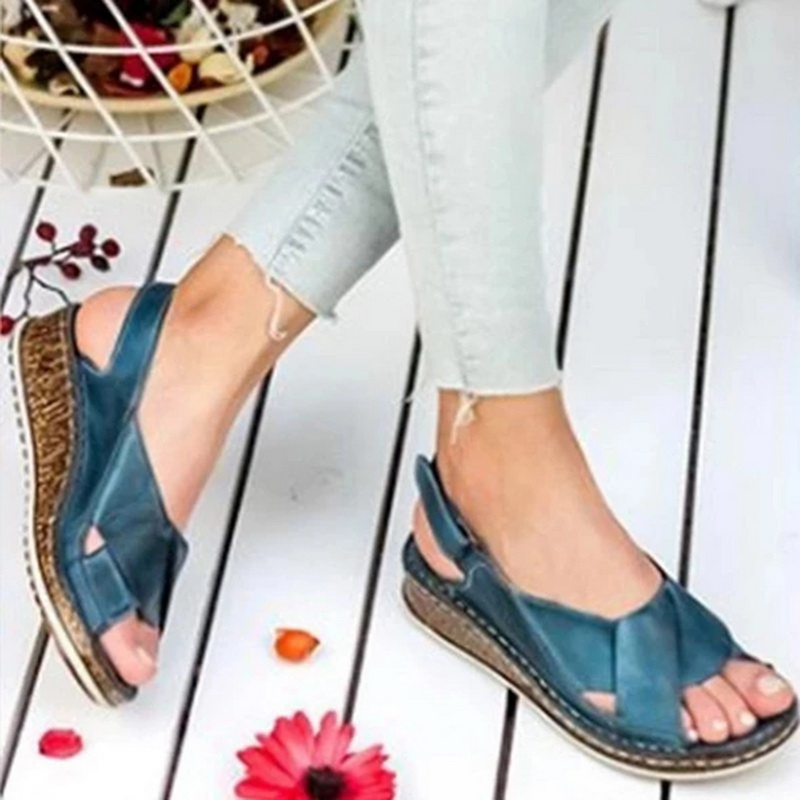 Wedges Shoes Platform Sandals Flip Flop Mid-Heels Femme Plus-Size Women Summer Chaussures title=