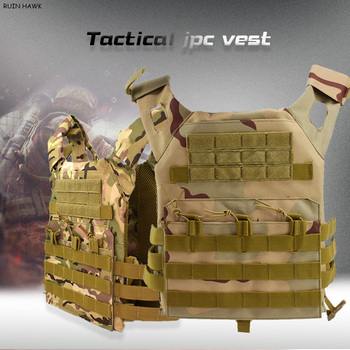 Plate Carrier Army Vest Tactical Equipment for JPC Wargame Military Vest armor Vest Hunting Vest Black Paintball CS Protective military equipment tactical vest airsoft hunting molle vest for outdoor wargame army training paintball combat protective vest