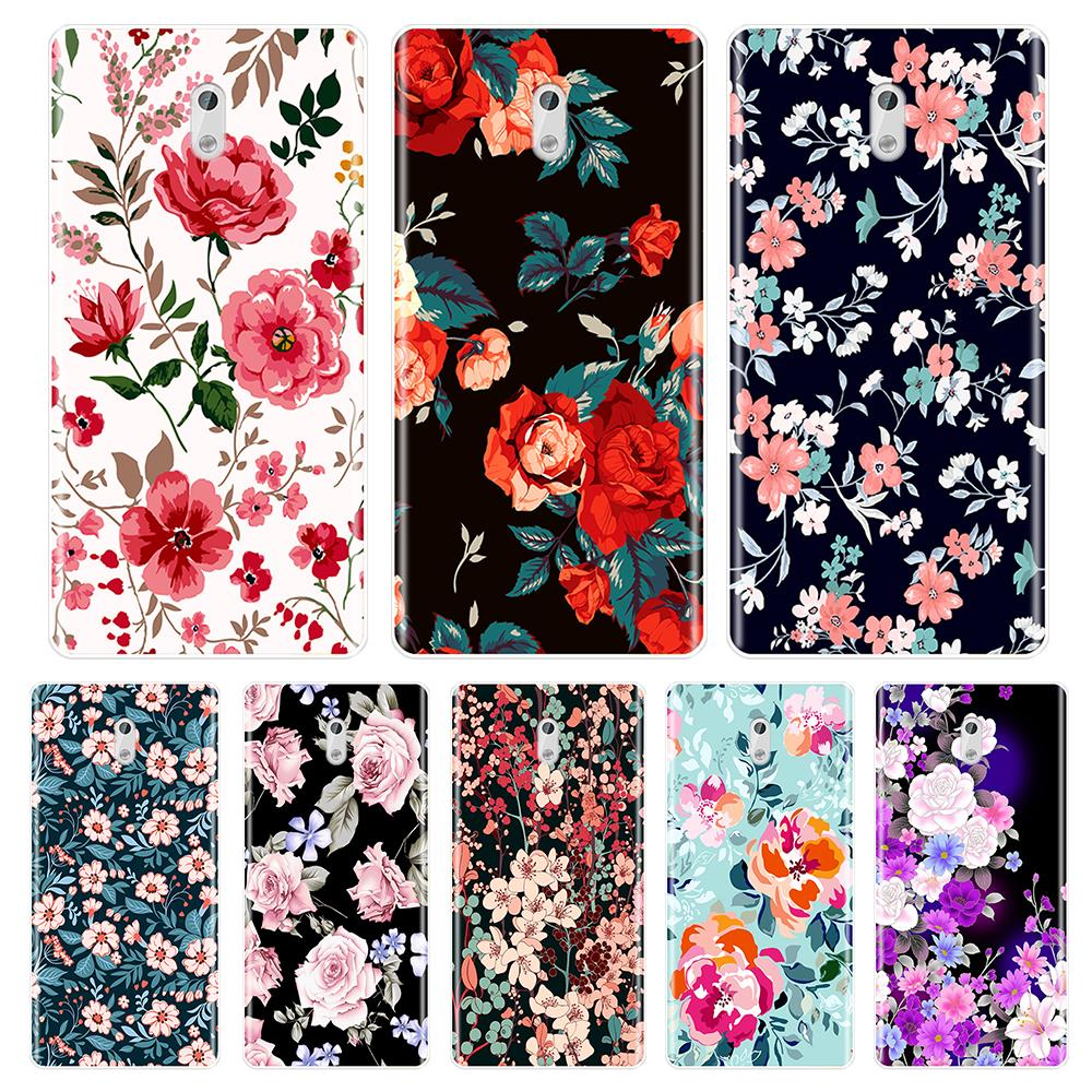 Soft TPU Phone Case Silicone For <font><b>Nokia</b></font> 9 8 6 5 <font><b>3</b></font> 2 <font><b>1</b></font> Beautiful Flowers Back Cover For Nokia6 Nokia5 Nokia3 Nokia2 X6 7 Plus <font><b>2018</b></font> image