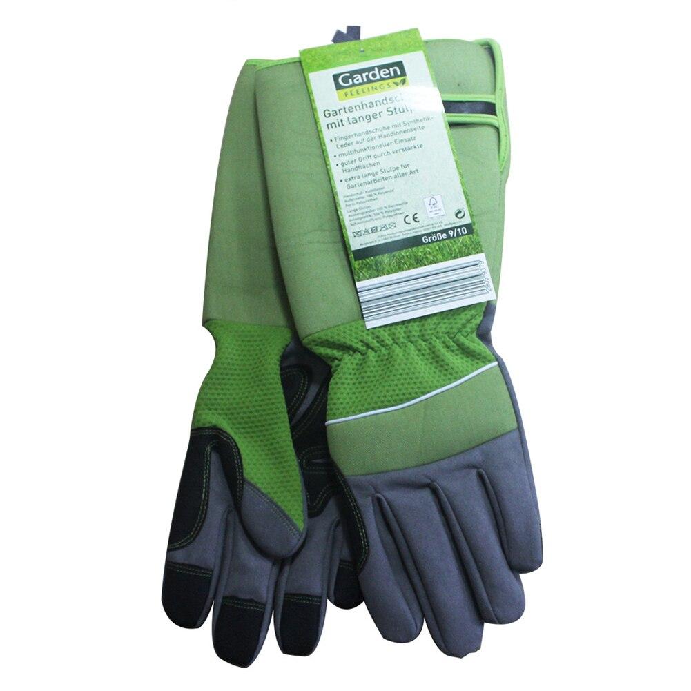 1 пара, аксессуары для защиты запястья, с длинным рукавом, защита от ударов, Холодостойкие перчатки, садоводство, рабочая печать, посадка - Цвет: Зеленый
