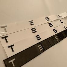 Trunk Letters Hood and Rear T Badge Emblem for Tesla Model 3 Model S Car Styling Logo Sticker Chrome Matte Glossy Black Red