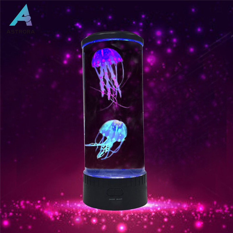 ASTRORA LED Fantasy Jellyfish Lamp Round with 5 Color Changing Light Effects Jelly Fish Tank Aquarium Novelty lighting