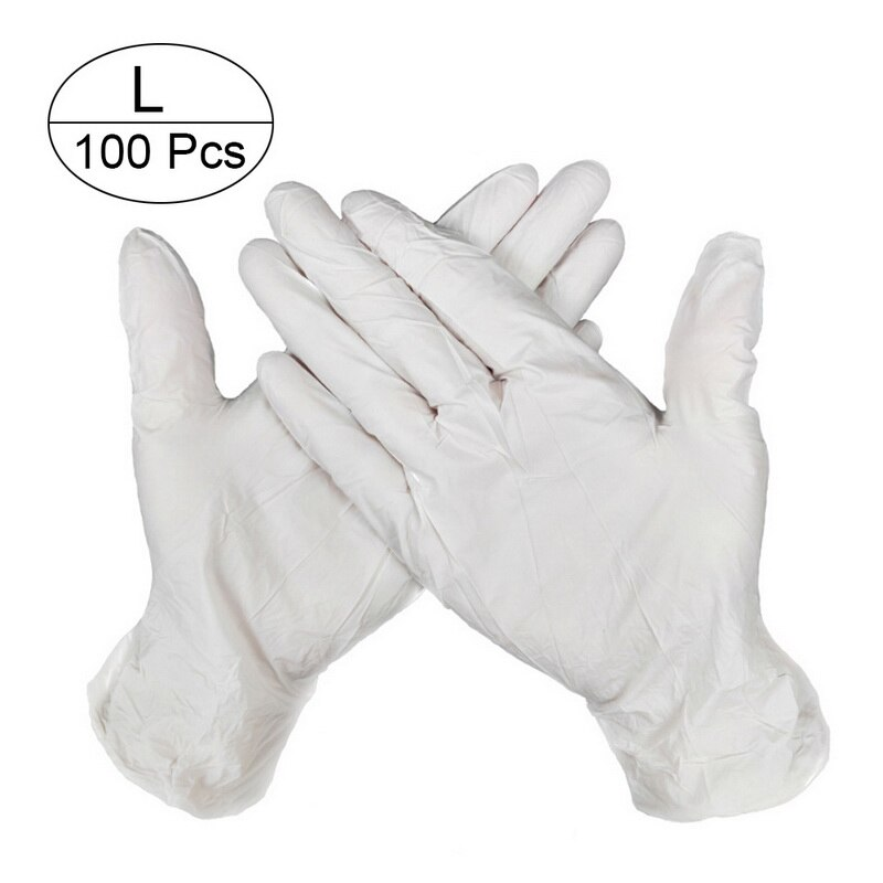 100 PCS Disposable Nitrile Gloves and Multi Purpose Latex Gloves for Virus and Flu Protection 8