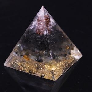 Image 5 - Geometrie Orgonite Piramide Muladhara Chakra Ossidiana Cristallo Naturale Labradorite Respingere Spiriti Maligni Decorazione Piramide