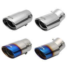 1 Pcs Stainless Steel Tail Tip End Pipe Exhaust Rear Muffler