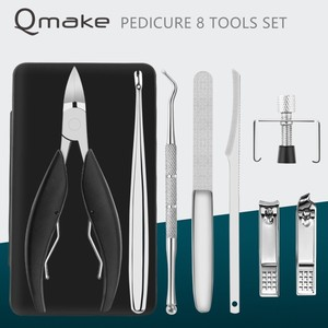 Image 2 - Qmake Toe Nail Clippers Set Nail Correction Nippers Clipper Cutters Dead Skin Dirt Remover Podiatry Pedicure Care Tool