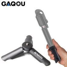 GAQOU Mini trépied pour Smartphone/support de téléphone monopode Gopro 6/lisse Q/DJI OSMO Portable pliable Tripode