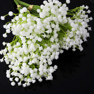 1pc 20cm White Babys Breath Artificial Flowers Fake Gypsophila Bouquet Wedding Flower DIY Bride Bouquets for Wedding Decoration