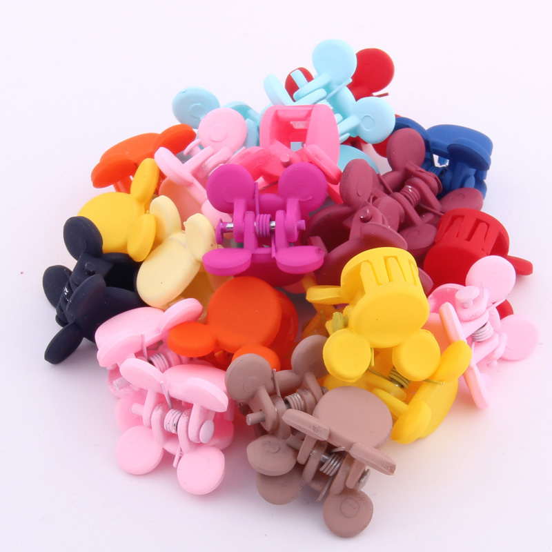 Hot Sale Mini Hair Claw For Girls Haar Accessoires For Kid Multicolor Cute Rabbit Head Hairpin Small Size Mickey Clips For Child