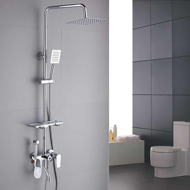 Rain Shower System Bathroom Set