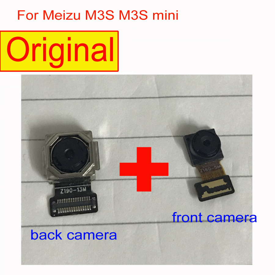 Original Tested Working Back Rear Big <font><b>Camera</b></font> Module For <font><b>Meizu</b></font> Meilan 3s <font><b>M3s</b></font> Mini front <font><b>camera</b></font> Repair Replacement Parts image