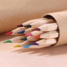 12 Pz/set Matita Raindow Matita Colorata Matita Pittura di Diversi Colori di Legno Arte Matite Matite Per La Scuola di Disegno Ufficio