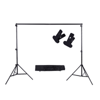 Andoer Photo Studio Background Support Backdrop Crossbar Kit with Two Clamps for Studio 200 * 300cm