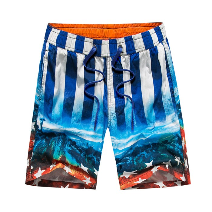 Men Cotton Beach Shorts Quick Dry Running Swimwear Wear Surf Trunks Beachwear Sports Board Plus Size