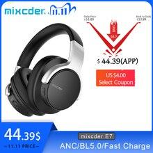 Mixcder E7 Cuffia Senza Fili HiFi Attivo Con Cancellazione del Rumore Bluetooth V5.0 Cuffia ANC Oltre Ear Auricolare per il Telefono