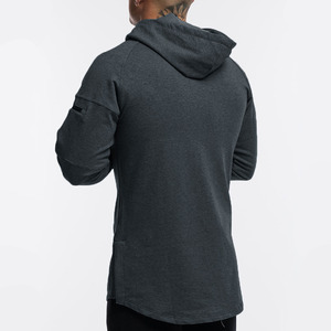 Image 3 - Casual Hoodies Mens Cotton Sweatshirt Gyms Fitness Workout Pullover Autumn New Male Gray Slim Hooded Jacket Tops Brand Clothing