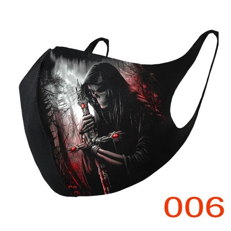 Adult Face Covers Fashion Unisex Cosplay Breathable Cotton Fabric Mouth Cover Cycling Mascarillas Reusable Facemaks Cosplay 2020 4