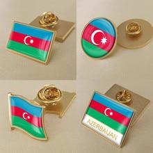 Герб Азербайджан азербайджанцев карта национальный флаг эмблема брошь значки нагрудные знаки